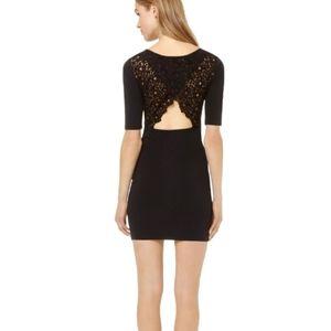 Aritzia Talula Newbury Black Lace Keyhole Dress